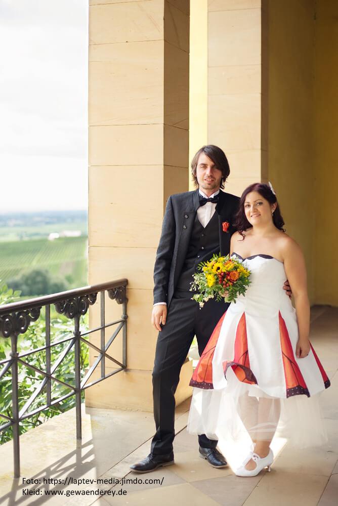 Monarchfalterkleid Hochzeit