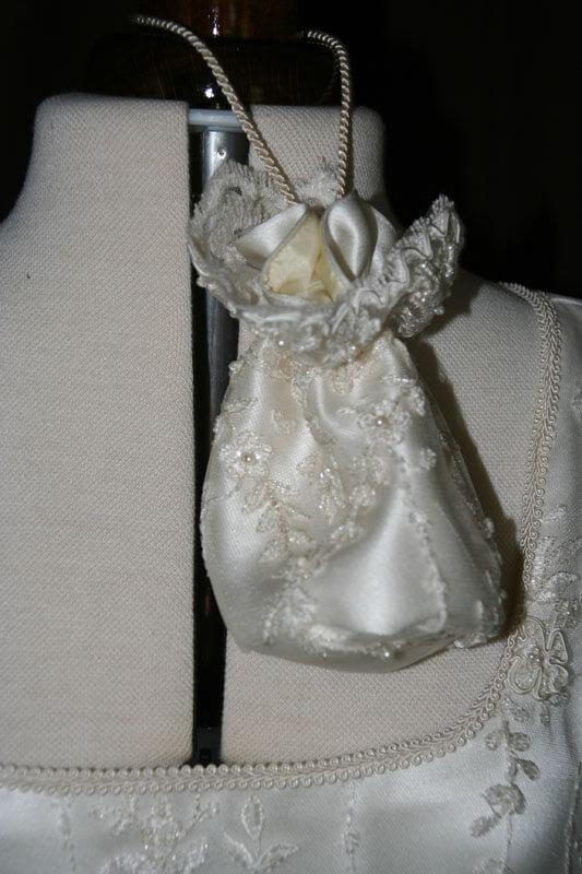 Brautbeutel Perlen