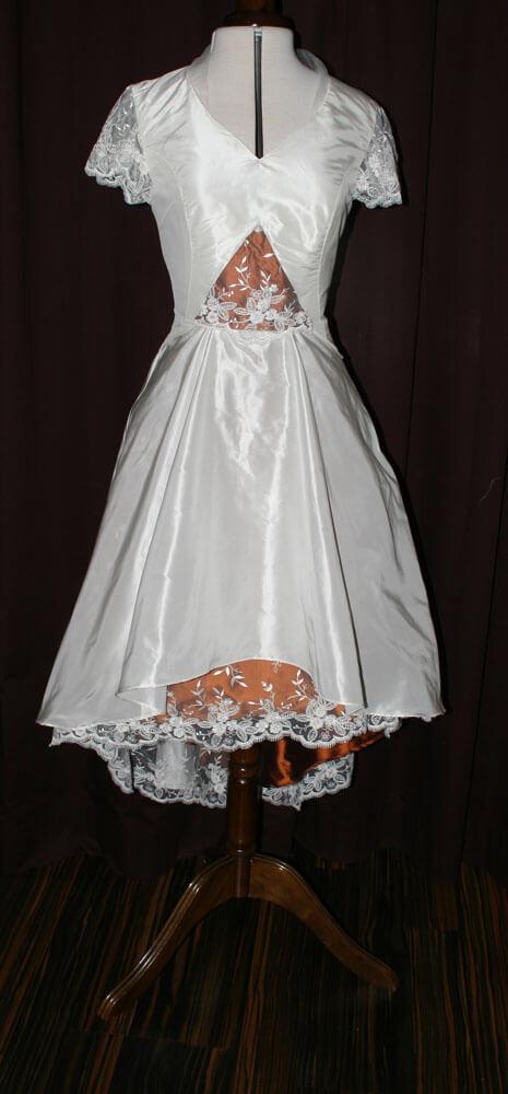 Brautkleid kurz Kupfer