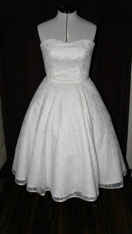 50er Jahre Rocabilly Brautkleid