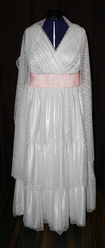 Brautkleid Boho Rünschen rosa