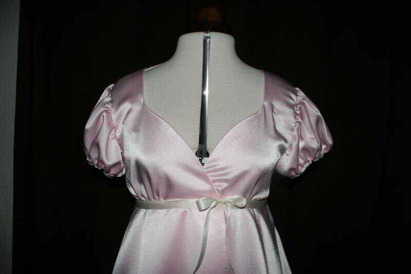 Brautkleid rosa Puffärmel