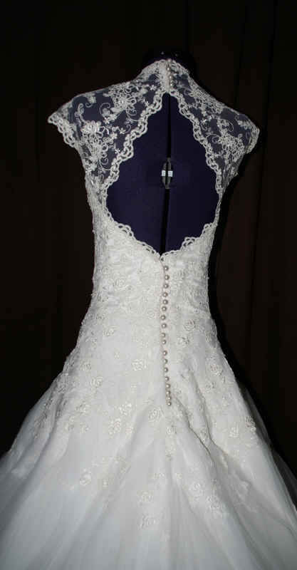Brautkleid Rückenausschnitt Spitze