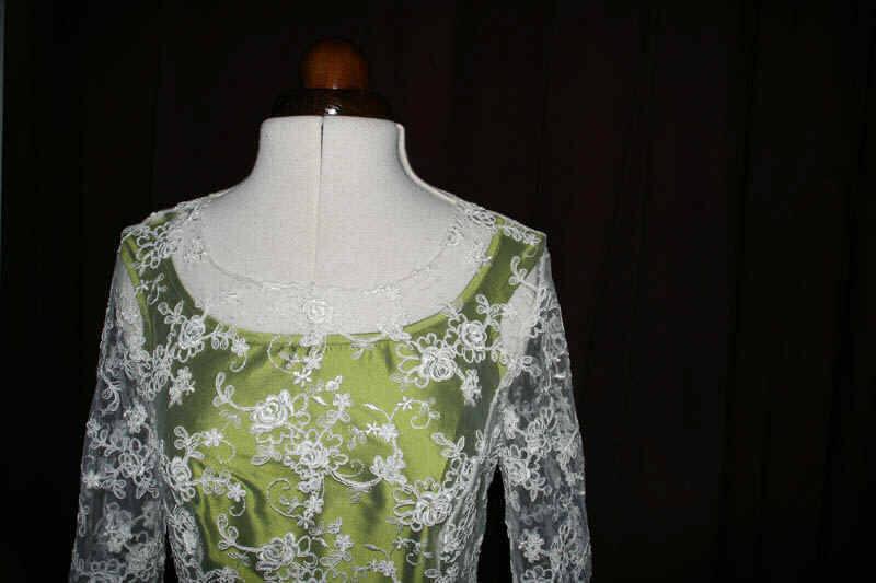 Brautkleid grün Spitze