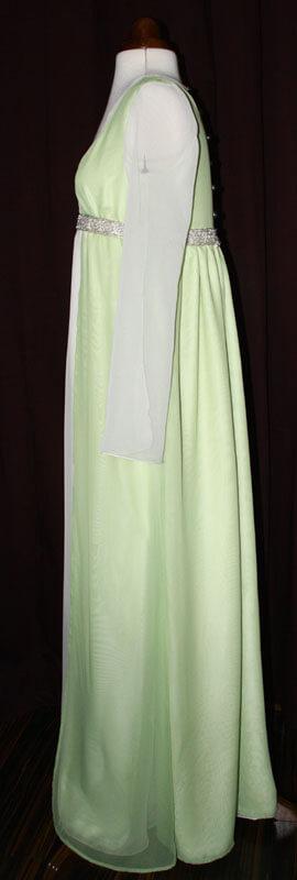 Brautkleid hellgrün Ärmel