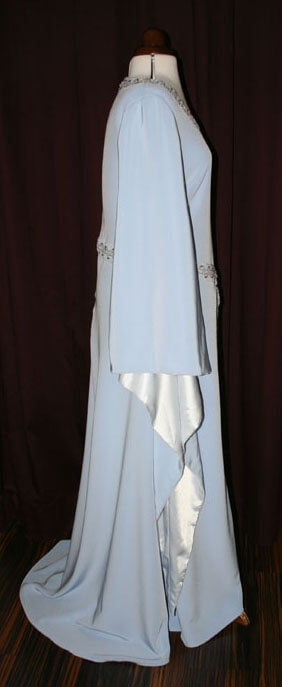 Brautkleid Mittelalter hellblau