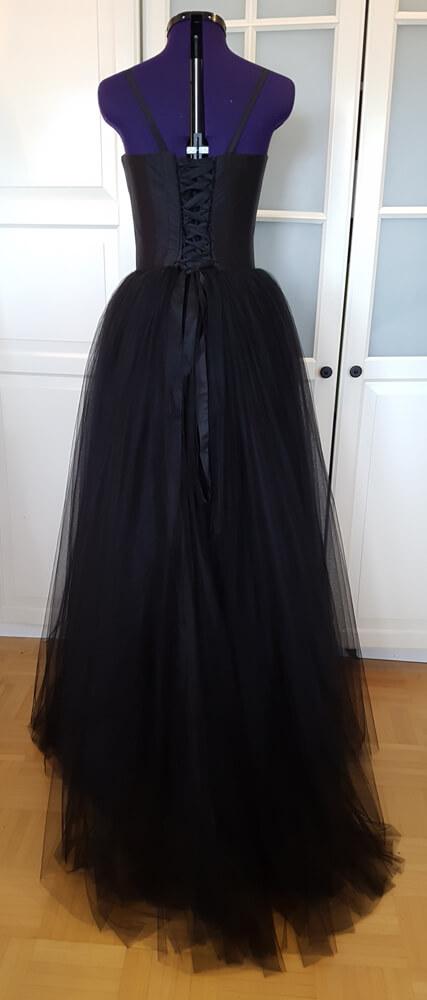 Gothic Brautkleid schwarz