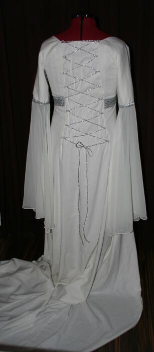 Schnürung Kordel silber Brautkleid