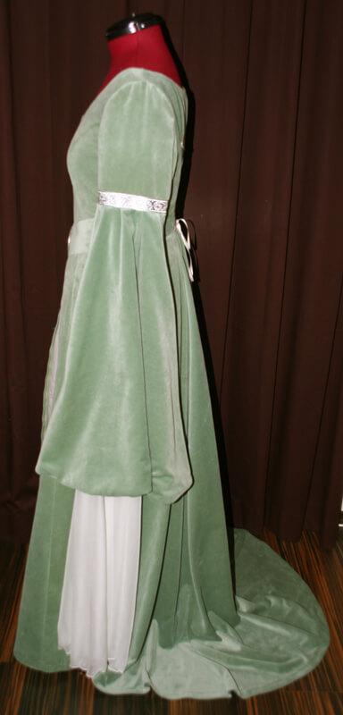 Elfen Brautkleid grün