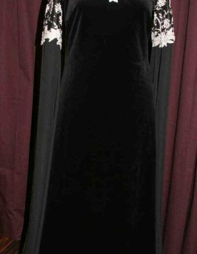 Elbenkleid schwarz silber