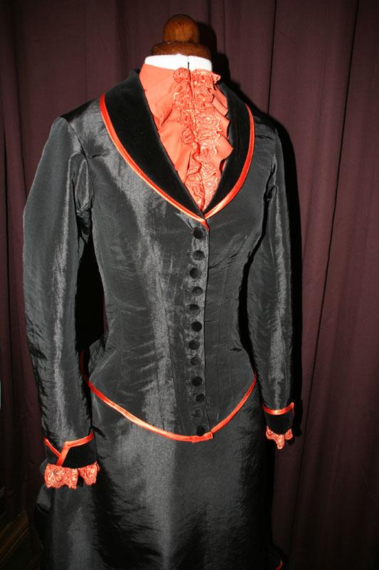 viktorianische Jackentaille 19. Jahrhundert
