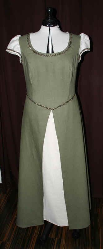 Brautkleid Leinen grün