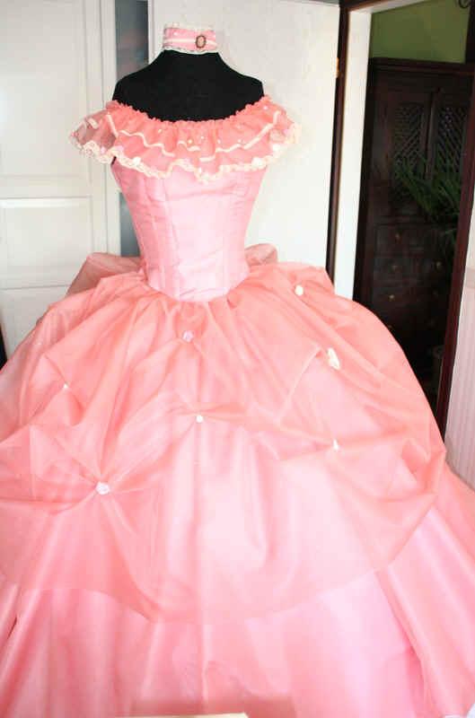 Krinolinenkleid rosa zweites Rokoko