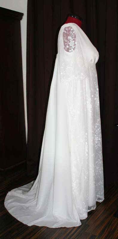 Brautkleid Spitze fließend
