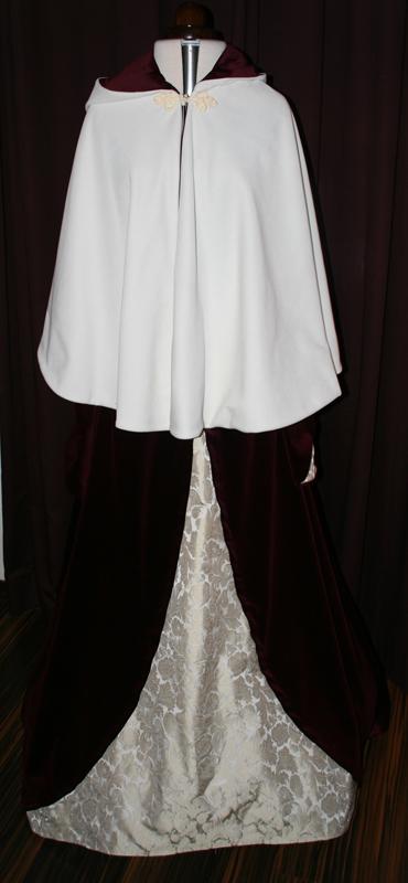 cape hochzeitskleid