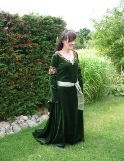 Arwen Mourning Cosplay grün