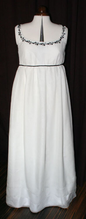 Perlen türkis Ausschnitt Brautkleid